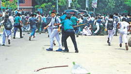 Road accident protest in Dhaka
