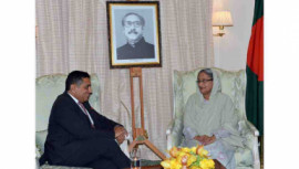 Prime Minister Sheikh Hasina and British Minister of State for Foreign
